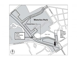 Map of Waterloo park and consultation location