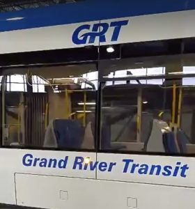 GRT branding on the ION train